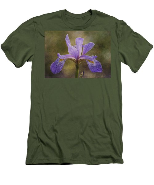 Purple Flag Iris Men's T-Shirt (Slim Fit) by Patti Deters