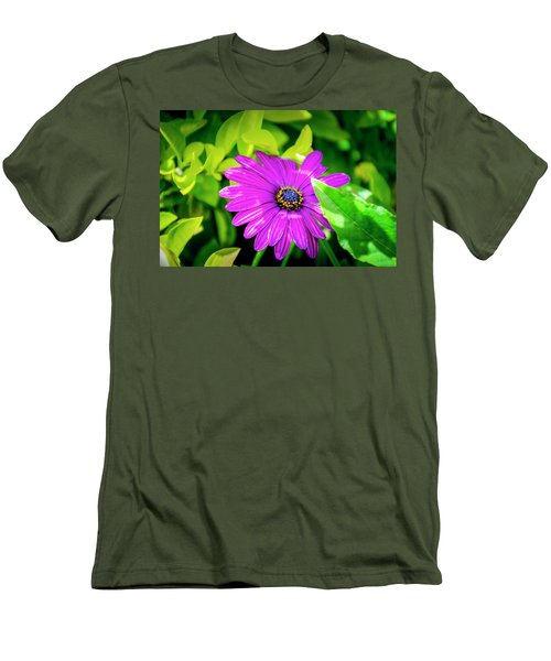 Purple Flower Men's T-Shirt (Athletic Fit)