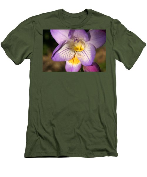 Purple Fresia Flower Men's T-Shirt (Athletic Fit)