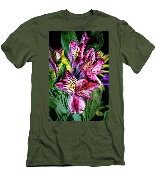 Purple Lily Men's T-Shirt (Slim Fit) by Mark Dunton