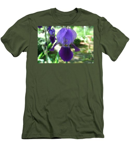 Men's T-Shirt (Slim Fit) featuring the digital art Purple Pleaser by Barbara S Nickerson
