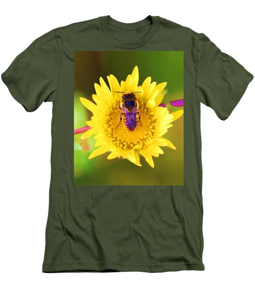 Men's T-Shirt (Slim Fit) featuring the photograph Purple Wings by John King