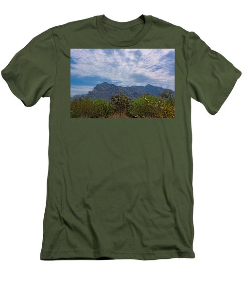 Men's T-Shirt (Athletic Fit) featuring the photograph Pusch Ridge Morning H26 by Mark Myhaver