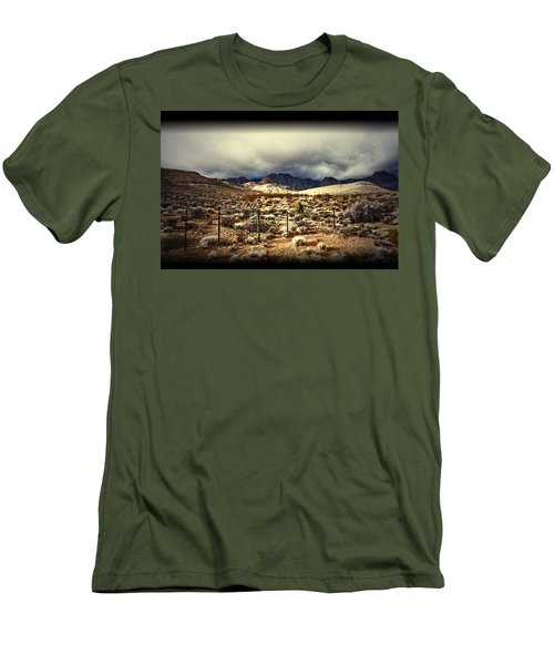 Men's T-Shirt (Slim Fit) featuring the photograph Push by Mark Ross