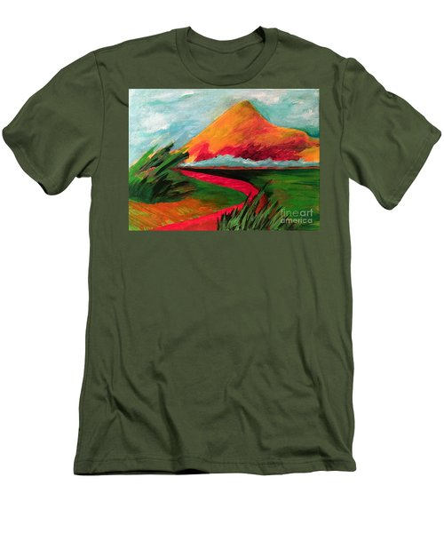 Pyramid Mountain Men's T-Shirt (Slim Fit) by Elizabeth Fontaine-Barr