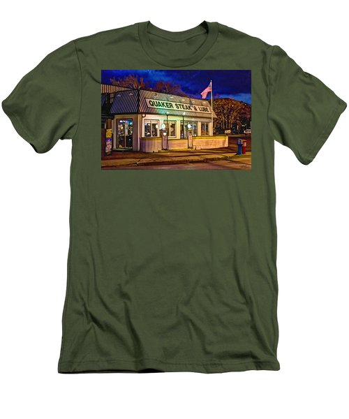 Quaker Steak And Lube Men's T-Shirt (Slim Fit) by Skip Tribby