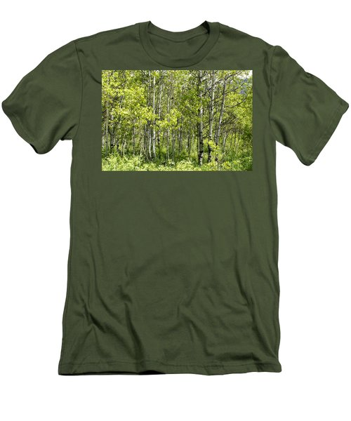 Men's T-Shirt (Slim Fit) featuring the photograph Quaking Aspens 2 by Cynthia Powell