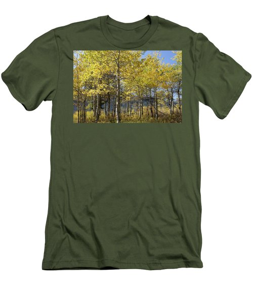 Men's T-Shirt (Slim Fit) featuring the photograph Quaking Aspens by Cynthia Powell