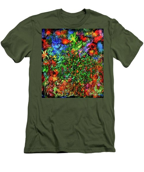 Men's T-Shirt (Athletic Fit) featuring the digital art Qualia's Christmas by Russell Kightley