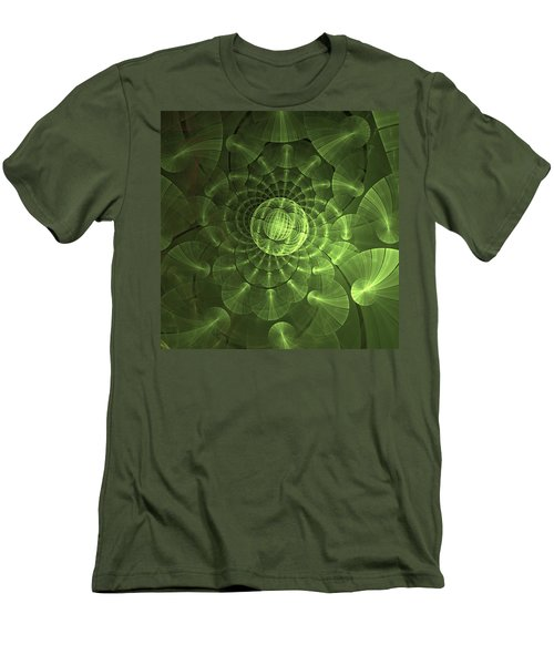 Quantum Plasma Signature Men's T-Shirt (Slim Fit) by Lea Wiggins