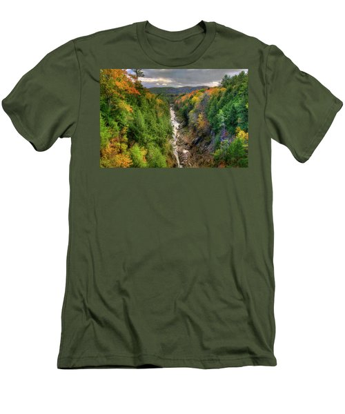 Men's T-Shirt (Athletic Fit) featuring the photograph Quechee Gorge - Quechee Vermont by Joann Vitali