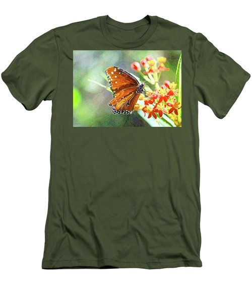 Queen Butterfly Men's T-Shirt (Slim Fit) by Inspirational Photo Creations Audrey Woods