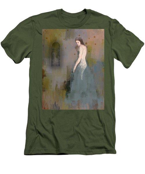 Men's T-Shirt (Slim Fit) featuring the digital art Queen by Lisa Noneman