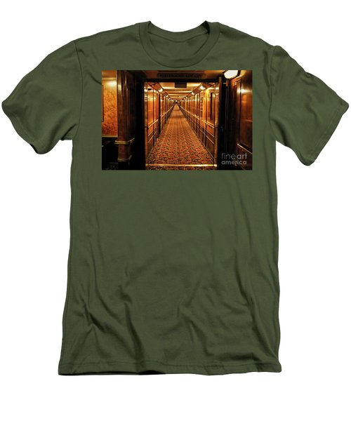 Men's T-Shirt (Slim Fit) featuring the photograph Queen Mary Hallway by Mariola Bitner