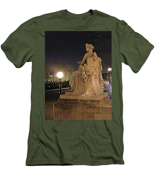 Men's T-Shirt (Slim Fit) featuring the photograph Queen Of Art Hill by Nancy Kane Chapman