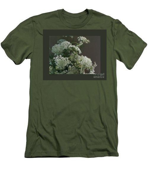 Queen's Bouquet Men's T-Shirt (Slim Fit) by Patricia Overmoyer
