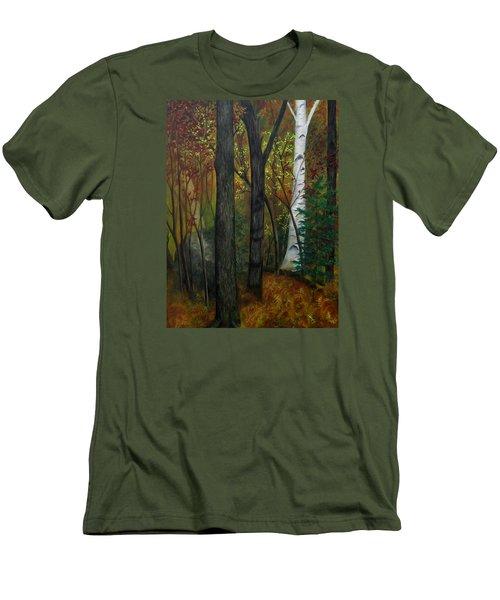 Quiet Autumn Woods Men's T-Shirt (Athletic Fit)