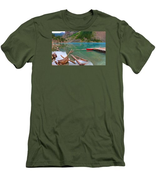 Moraine Lake I, Alberta Men's T-Shirt (Athletic Fit)