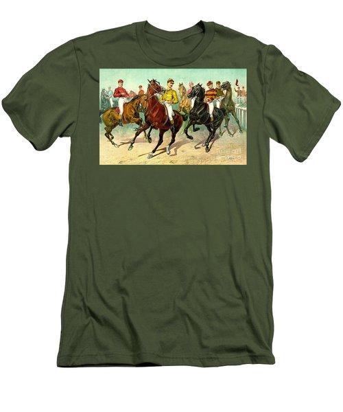 Racehorses 1893 Men's T-Shirt (Slim Fit) by Padre Art