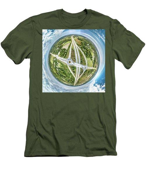 Men's T-Shirt (Athletic Fit) featuring the photograph Racine Avenue by Randy Scherkenbach