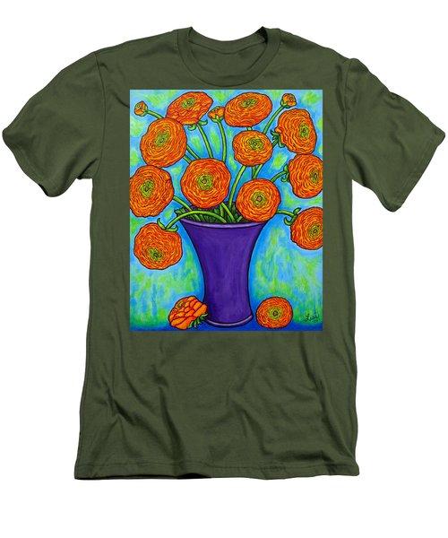Radiant Ranunculus Men's T-Shirt (Athletic Fit)