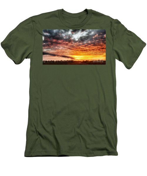 Raging Sunset Men's T-Shirt (Athletic Fit)