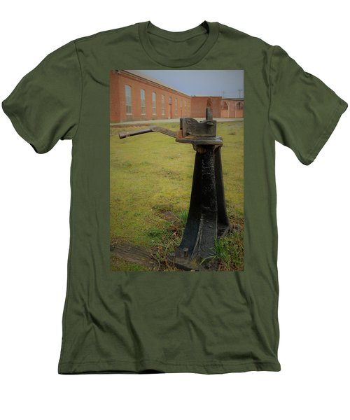 Rail Track Switch Men's T-Shirt (Athletic Fit)