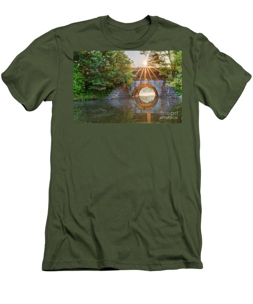 Railroad Bridge Men's T-Shirt (Athletic Fit)