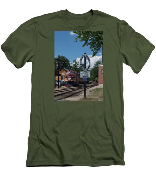 Railroad Crossing Men's T-Shirt (Slim Fit) by Suzanne Gaff