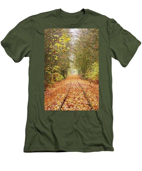 Railroad Tracks Men's T-Shirt (Athletic Fit)