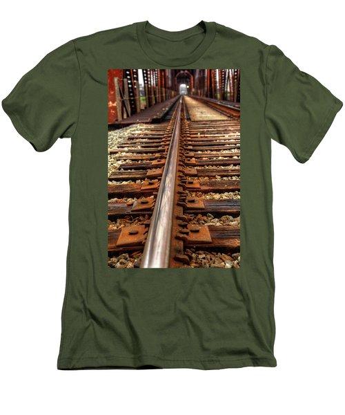 Railway Men's T-Shirt (Slim Fit) by Ester Rogers