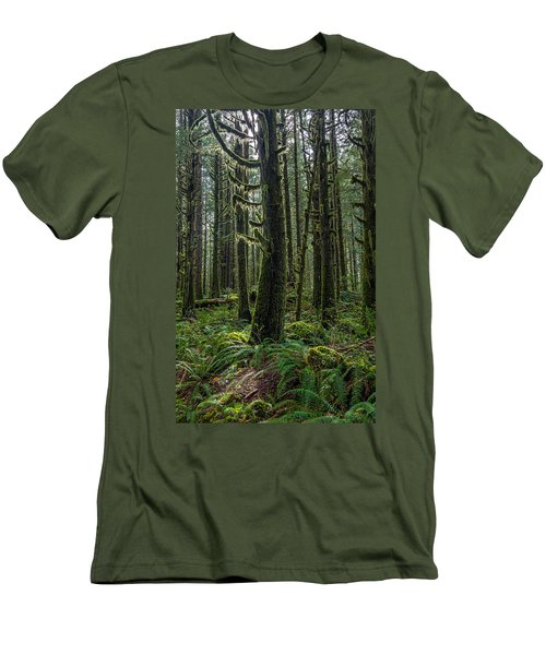 Rain Forest Of Golden Ears Men's T-Shirt (Slim Fit) by Pierre Leclerc Photography