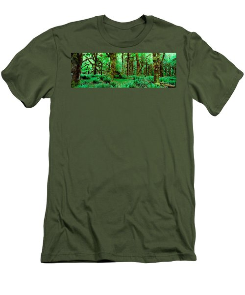 Rain Forest, Olympic National Park Men's T-Shirt (Athletic Fit)