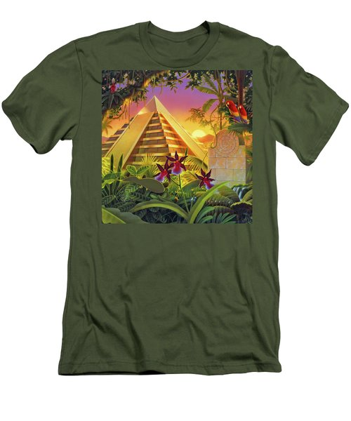 Rain Forest Pyramid  Men's T-Shirt (Slim Fit) by Robin Moline