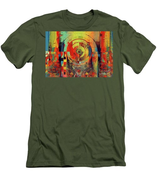 Men's T-Shirt (Slim Fit) featuring the digital art Rainbolo - 01t01ii by Variance Collections