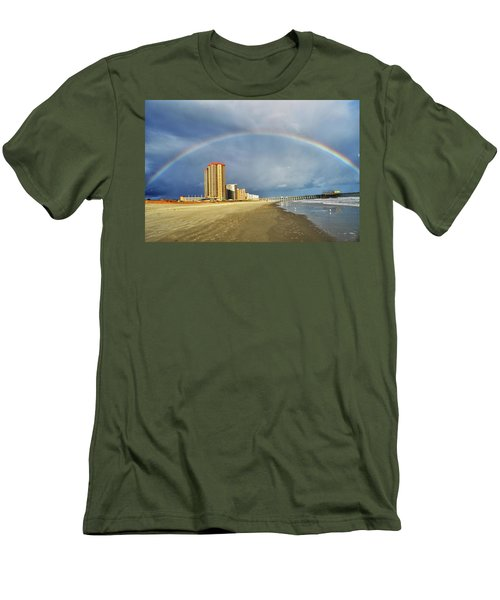 Rainbow Beach Men's T-Shirt (Slim Fit) by Kelly Reber
