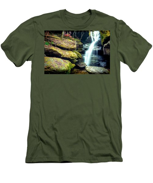 Men's T-Shirt (Athletic Fit) featuring the photograph Rainbow Falls At Dismals Canyon by David Morefield
