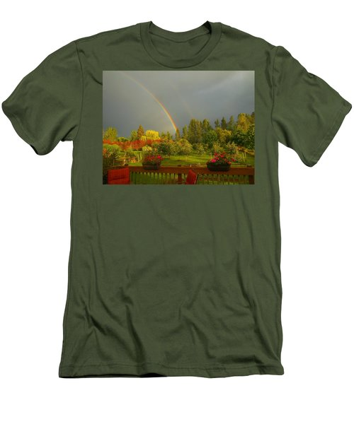 Rainbow From The Back Deck Men's T-Shirt (Athletic Fit)