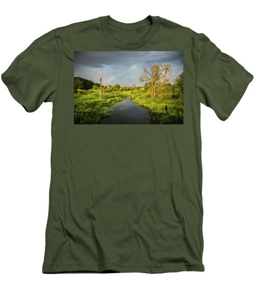 Men's T-Shirt (Slim Fit) featuring the photograph Rainbow by Jaroslaw Grudzinski