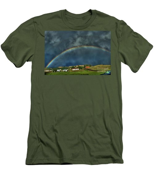 Rainbow Over Cripple Creek Men's T-Shirt (Athletic Fit)