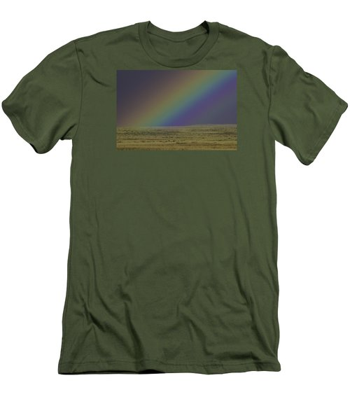 Rainbows End Men's T-Shirt (Slim Fit) by Elizabeth Eldridge