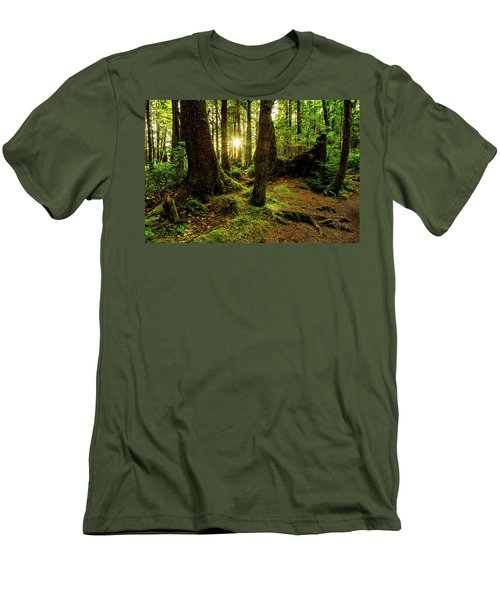 Rainforest Path Men's T-Shirt (Athletic Fit)