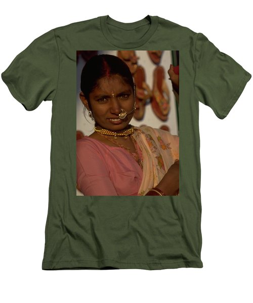 Men's T-Shirt (Slim Fit) featuring the photograph Rajasthan by Travel Pics