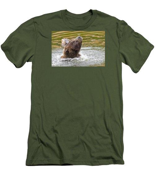 Rambo Bear Men's T-Shirt (Slim Fit) by Harold Piskiel