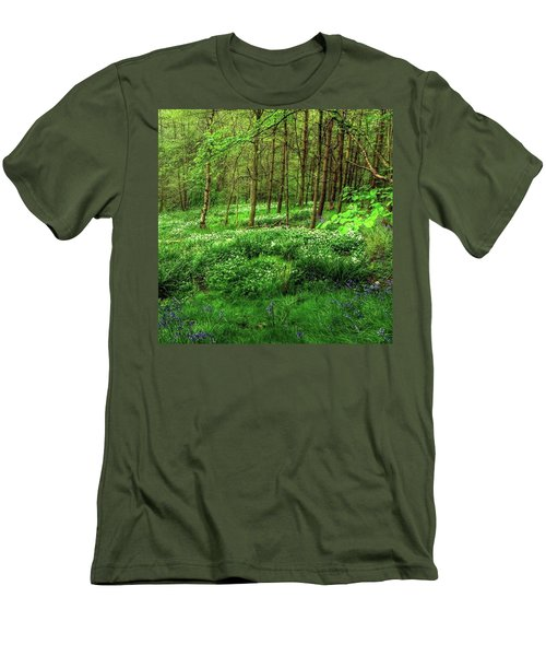 Ramsons And Bluebells, Bentley Woods Men's T-Shirt (Athletic Fit)