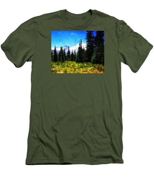 Ranier Mountain Meadow Men's T-Shirt (Athletic Fit)