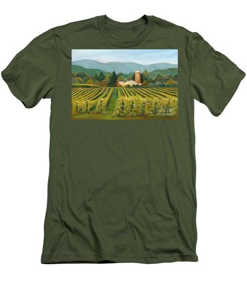 Raspberry Rows Men's T-Shirt (Slim Fit) by Phyllis Howard