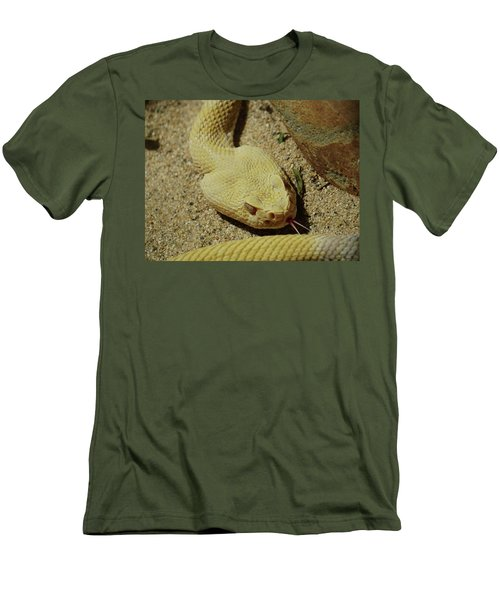 Rattlesnake Closeup Men's T-Shirt (Athletic Fit)