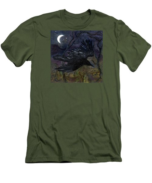 Raven In Stars Men's T-Shirt (Slim Fit) by FT McKinstry