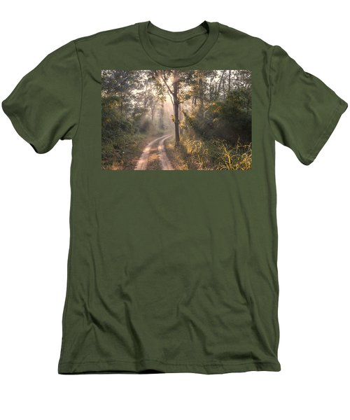 Rays Through Jungle Men's T-Shirt (Athletic Fit)